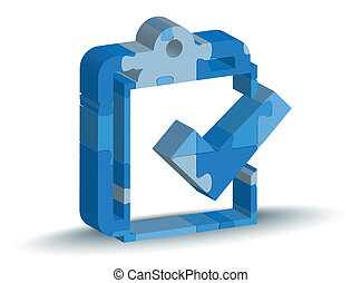 checklist icon in puzzle