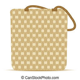 Canvas Tote Grocery Bag - EPS 10 Vector Illustration -...