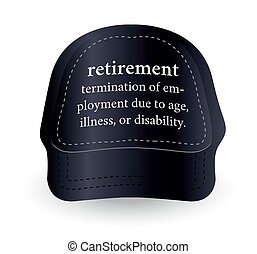 dictionary word of retirement on baseball cap - EPS 10...