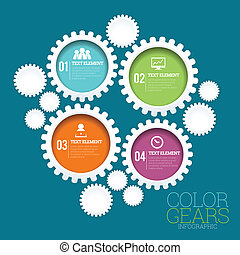 Color Gears Infographic