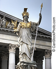Athena statue Vienna hdr - The Pallas Athene Fountain was...