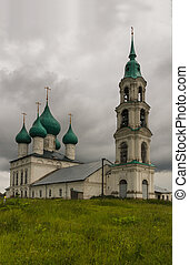 old orthodox temple - the old orthodox temple against clouds