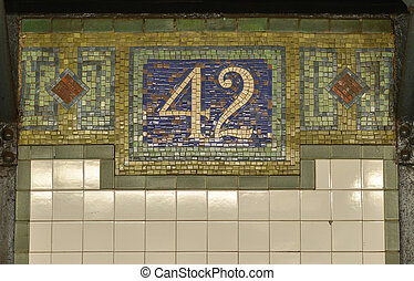 42nd Street NYC Subway Sign - 42nd Street - New York city...