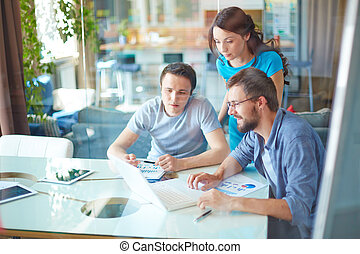 Modern business partners - Group of three successful...