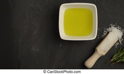 Cooking ingredients for mediterranean cuisine - olive oil,...