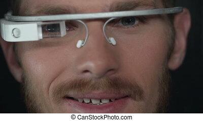 Progressive Intelligence - Extreme close up of man handling...