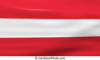 Waving Austria Flag, ready for seamless loop