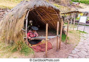 CHIVAY, AREQUPA, PERU - CIRCA 2013:An unidentified woman...