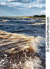Waves on the shore of the Baltic Sea