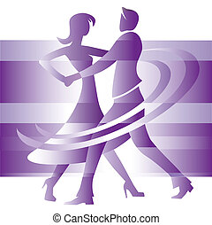 Dancing couple - Couple dancing ballroom dance, cartoon on...
