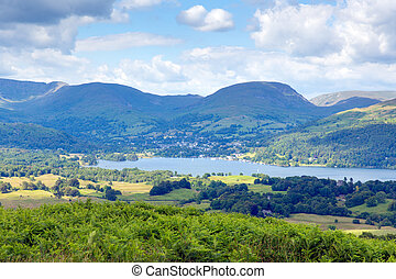Windermere Lake District National Park England uk on a...