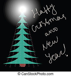Cristmas card - Merry cristmas and happy new year card...