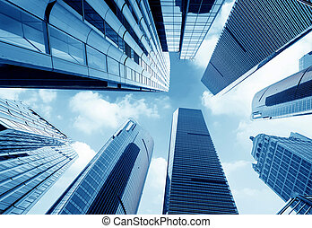 office buildings - Metropolis of Shanghais modern office...