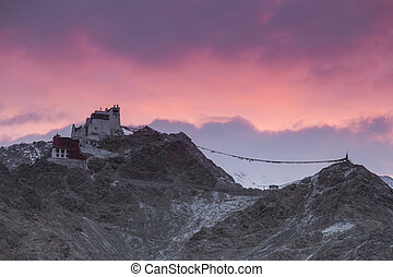 leh - Namgyal or red gompa is main Buddhist centre in Leh....