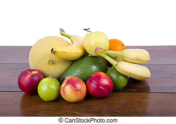 fruits isolated - set of fruits isolated on white background