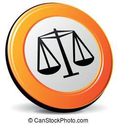Vector justice icon