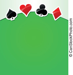 Vector playing cards background - Vector illustration of...