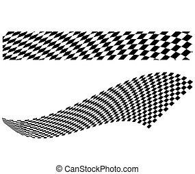 Vector checkerboard illustration - Vector illustration of...