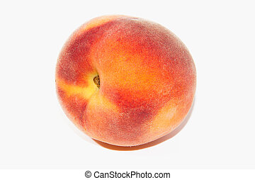 Peaches - Good peaches, one cut, on a white background