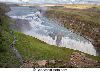 Waterfall Gullfoss, Iceland - Long exposure of Waterfall...