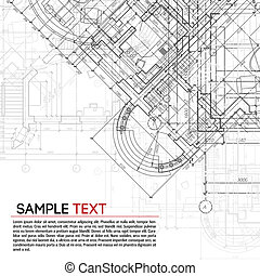 Architectural background - Abstract vector illustration in...