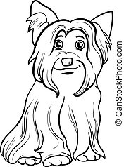yorkshire terrier dog coloring book