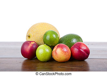 fruits isolated - set of fruits isolated on white background