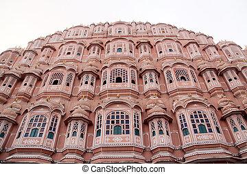 Hawa Mahal - the Palace of Winds, Jaipur, Rajasthan, India.