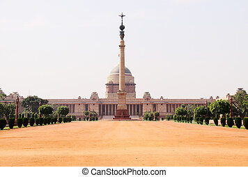 Indian presidental palace - Rashtrapati Bhavan - Indian...