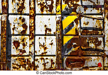 Rusted Trash Bin - Old rusted industrial trash container