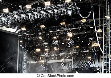 Stage lights setting