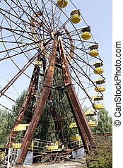 Chernobyl - Pripyat - Ferris wheel in Pripyat - abandoned...
