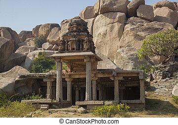 Hampi - Pushkarami - Sacred tanks - Pushkarami at the...