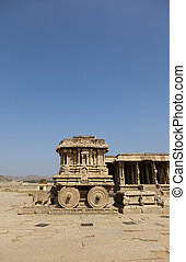Hampi - Stone chariot at Vittala temple - one of the...