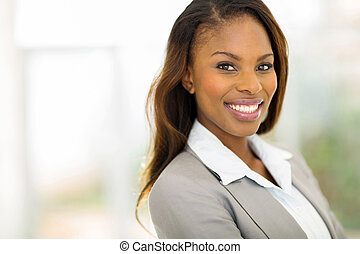 young african american businesswoman closeup portrait -...