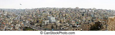 Amman - Urban city in middle east - downtown center of...