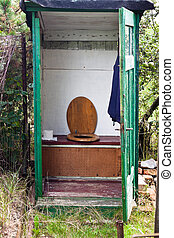 Outhouse - Old outhouse in the garden.