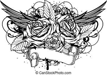 roses wings