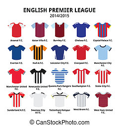 English Premier League 2014 - 2015 - Vecotor icons set of...