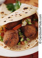 Falafel, deep fried chickpea balls - Falafel, deep fried...