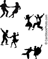 dance moves - dance silhouettes