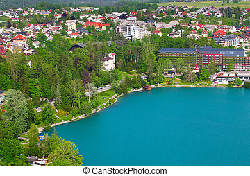 BLED, SLOVENIA-MAY 22:The town of Bled , Slovenia on May...