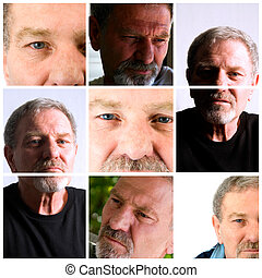 Collage of an Adult Male - Senior Citizen