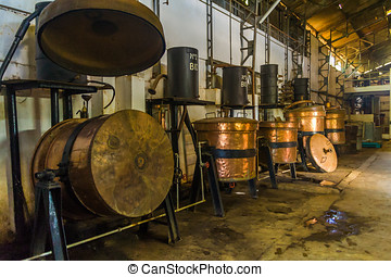 Distillery of essential oil in Nosy Be, Madagascar