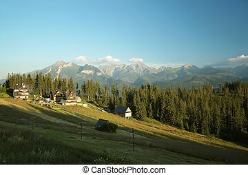Rural landscape in Tatra Mountains - Rural landscape in the...