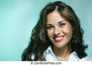 Attractive smiling woman - Portrait of attractive smiling...