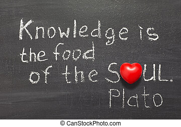 food of soul - famous ancient Greek philosopher Plato quote...