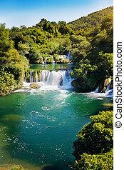 nacional, parque,  krka, croacia, cascadas, parque