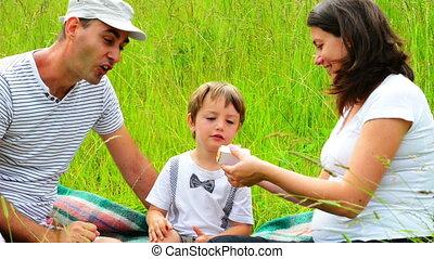 Three years anniversary - Family with one kid at three years...