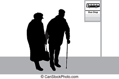 Bus Stop - Senior Couple